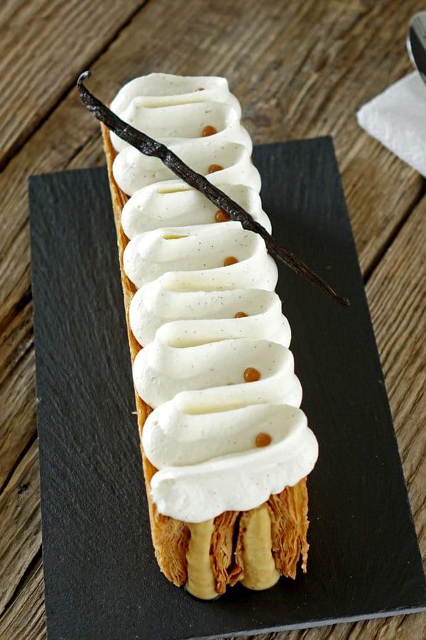 Recette du mille-feuille vanille caramel