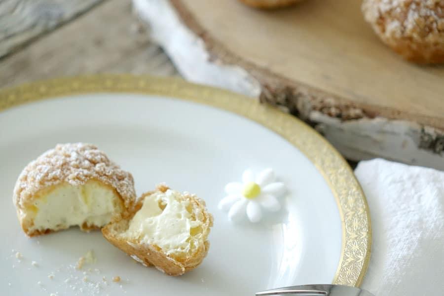 Recette des petits choux à la vanille