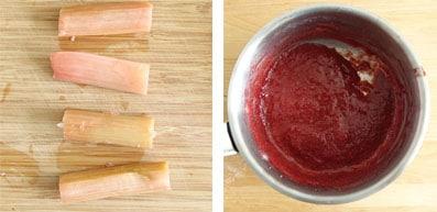 Pas à pas de la recette de la tarte fraise et rhubarbe