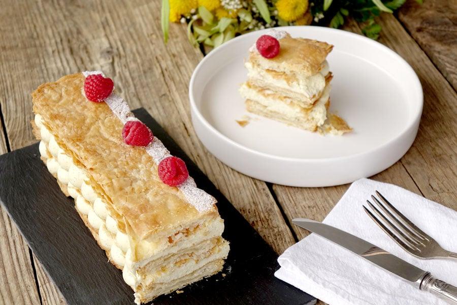 Recette du mille-feuille vanille et mascarpone