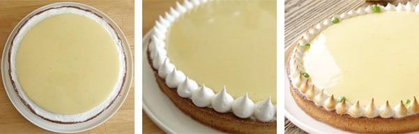Pas à pas de la recette de la tarte au citron