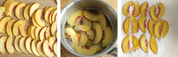 Pas à pas de la recette de dacquoises framboises et nectarines