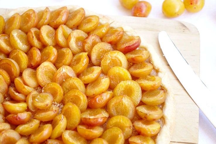 La recette de la tarte rustique aux mirabelles