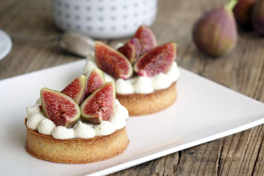 Recette de la tartelettes aux figues fraîches