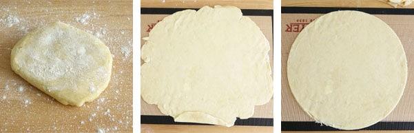 Pas à pas de la recette de tarte rustique aux mirabelles