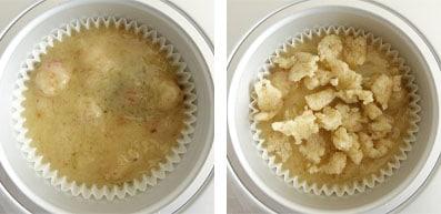 Pas à pas de la recette des muffins figues et noix