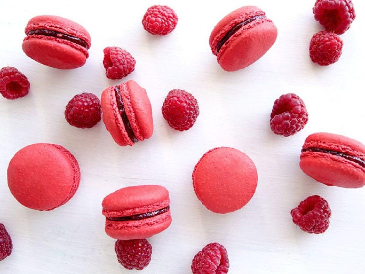 Macarons A La Framboise Empreinte Sucree