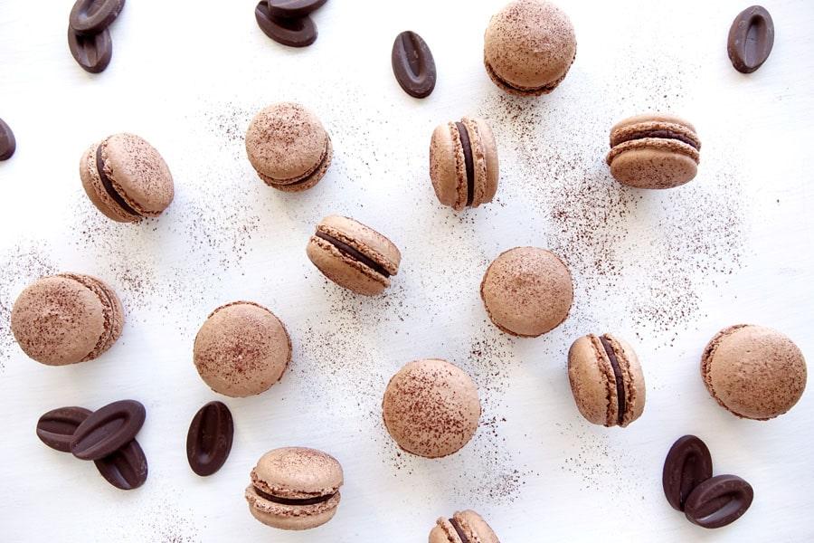 Recette des macarons au chocolat