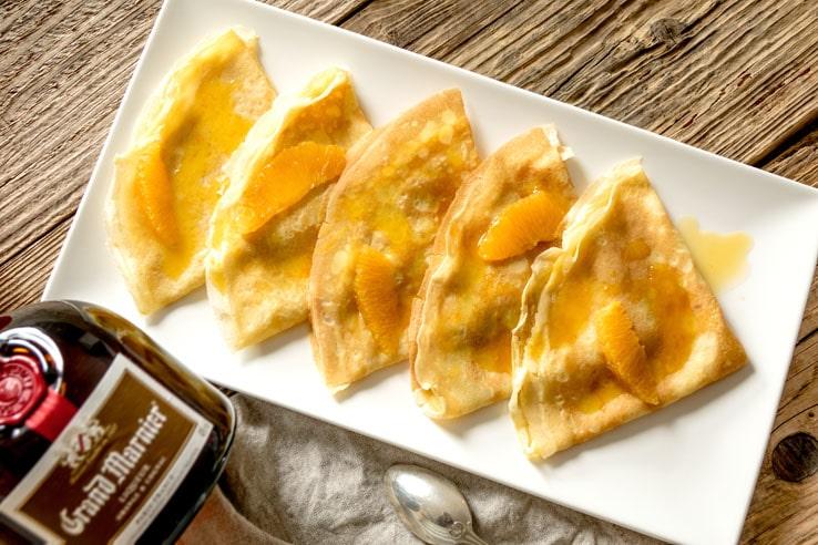 La recette de la Pâte à crêpes et des crêpes Suzette