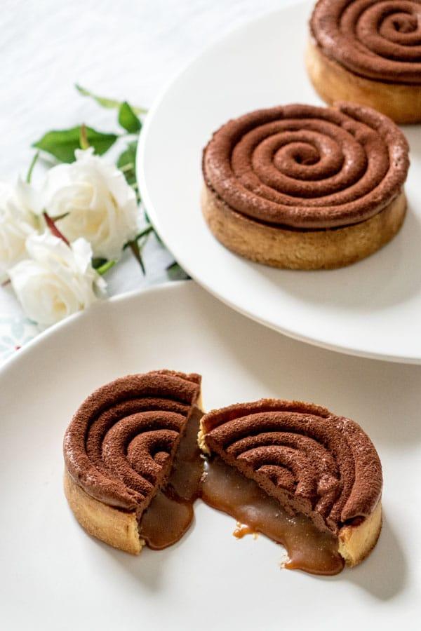 La recette des tartelettes chocolat et caramel beurre salé