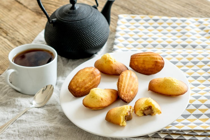 La recette des madeleines au gianduja