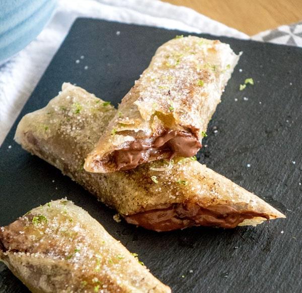 La recette des fingers banane et chocolat de Nicolas Bernardé