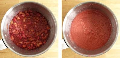 La recette du sorbet à la rhubarbe