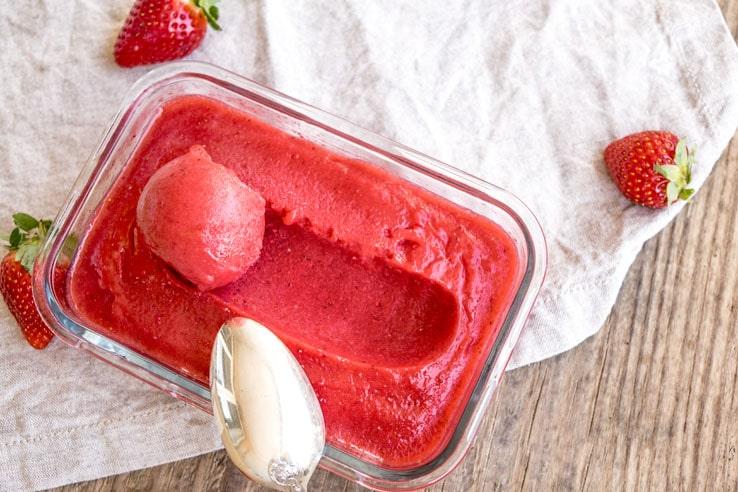La recette du sorbet à la fraise