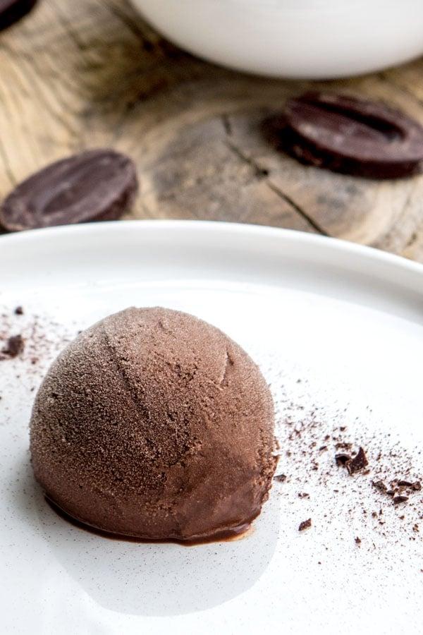 La recette du sorbet au chocolat