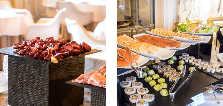 Le brunch du Meurice et son buffet salé