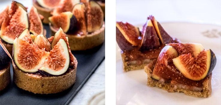 Le brunch du Meurice : tartelettes figues fraîches