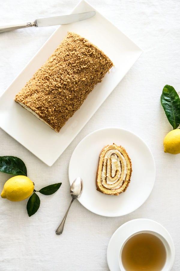 La recette du roulé citron noisettes de Cyril Lignac