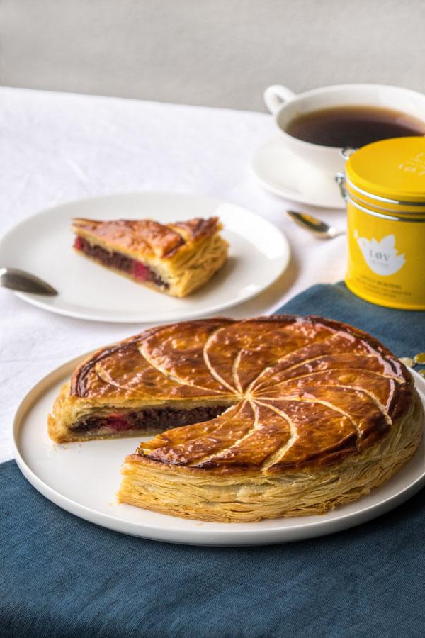 La recette de la galette des Rois chocolat et framboises