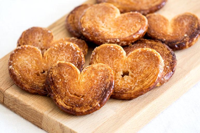 La recette des petits biscuits palmiers