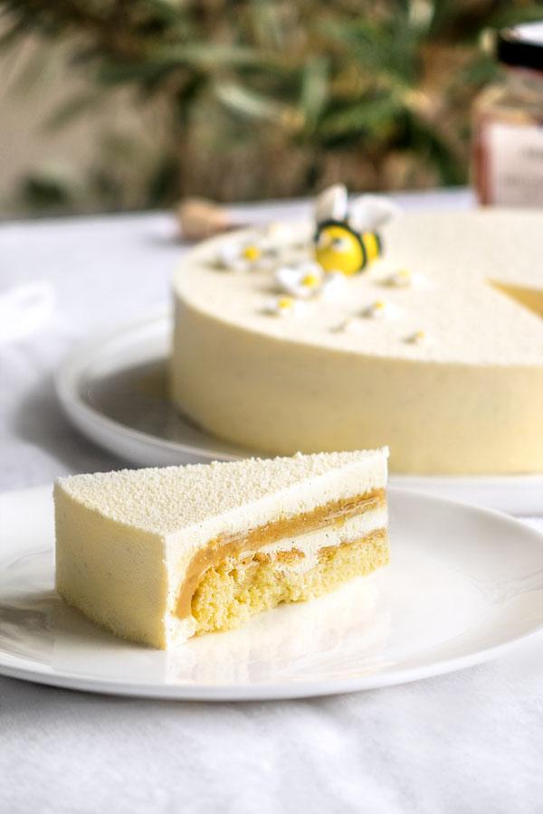 La recette de l'entremets vanille et miel de châtaignier