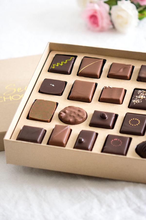 Les chocolats de la box Secrets de Chocolatiers
