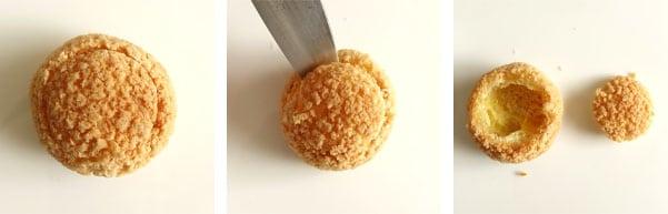 La recette des petits choux praliné
