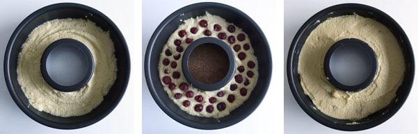 La recette de la couronne de Noël (cake amandes et cerises)