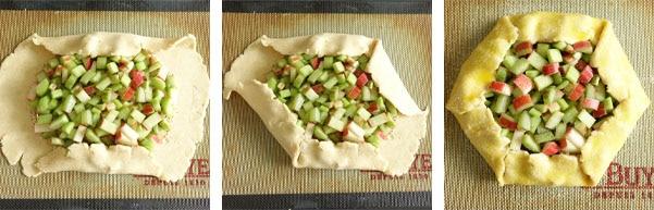 La recette de la tarte rustique à la rhubarbe