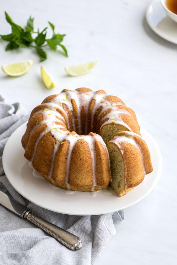 La recette du cake citron vert et menthe