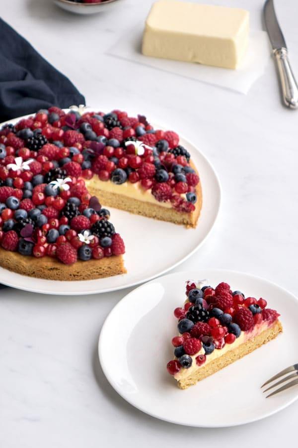 La recette de la tarte citron et fruits rouges