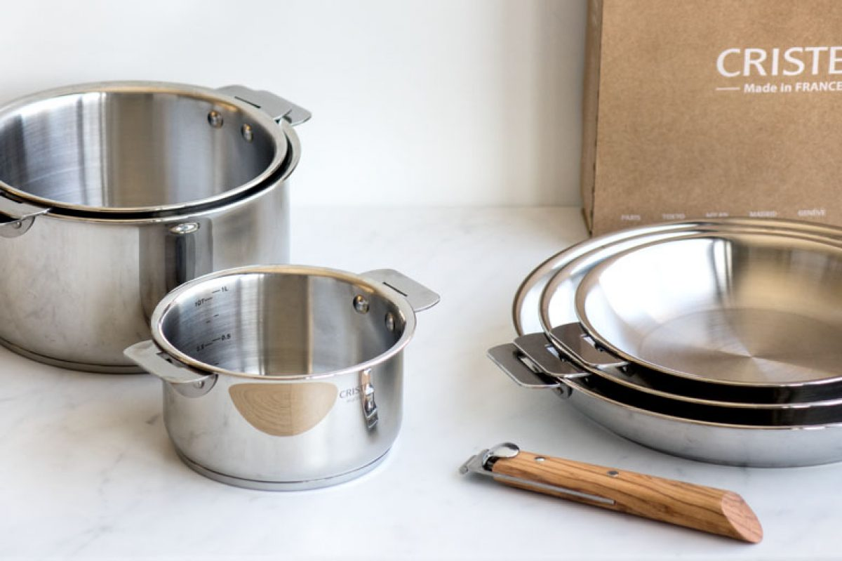 """COUVERCLE SÉRIE /""""STRATE/"""" MADE IN FRANCE CRISTEL INOX 18//10 ET VERRE TOP !"""
