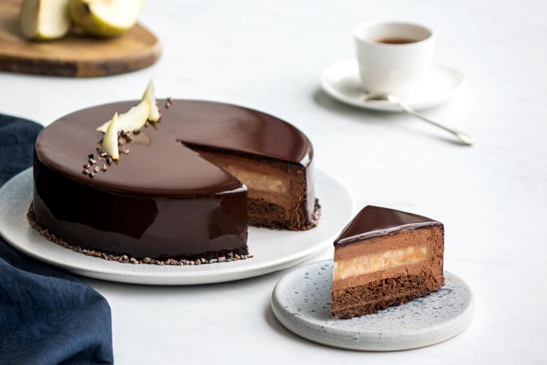 La recette de l'entremets poire chocolat