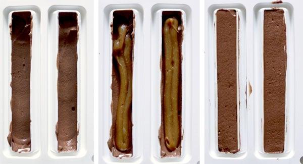 La recette des bûchettes chocolat caramel