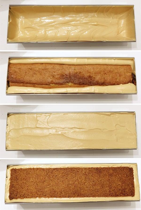 La recette de la bûche orange, passion et Dulcey