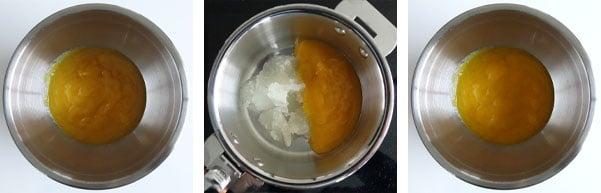 La recette de l'entremets mangue