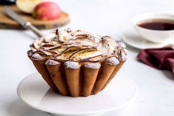 La recette du gâteau aux pommes et mascarpone