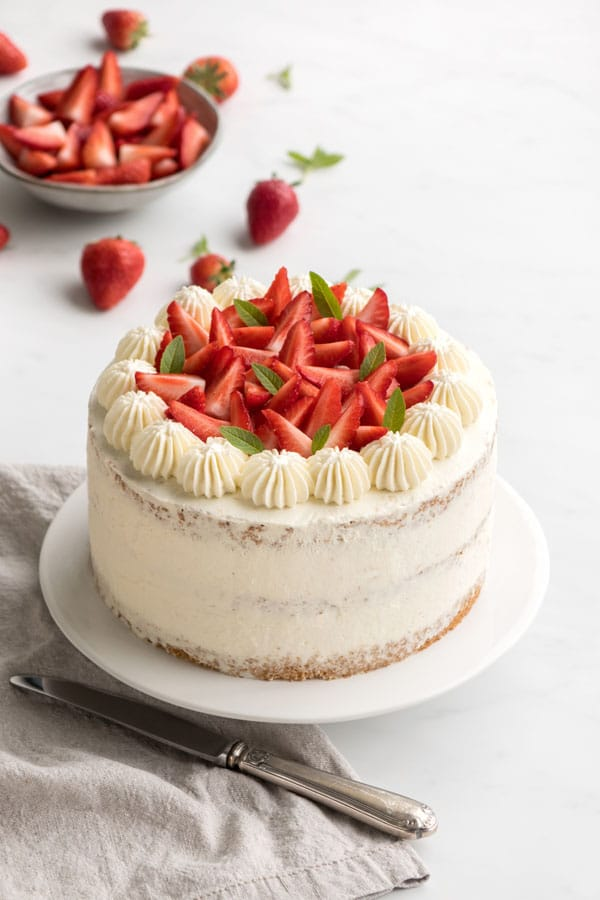 La recette du chiffon cake aux fraises