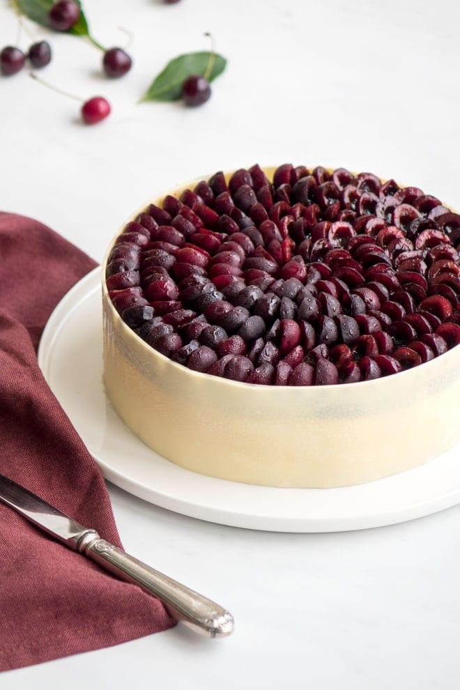 La recette de l'entremets cerises et amandes