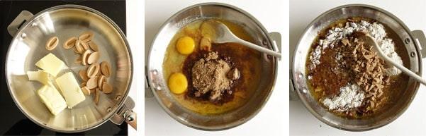 La recette de la glace dulcey aux éclats de brownie