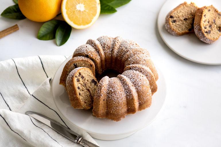 La recette du cake orange cannelle aux pépites de chocolat