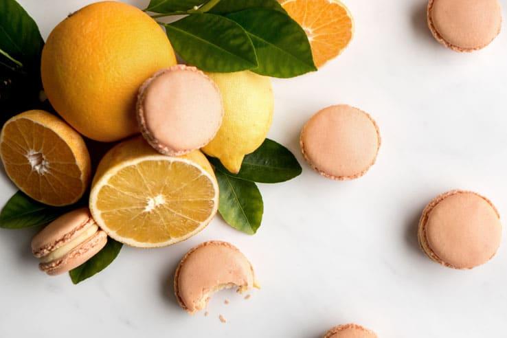 La recette des macarons Kallisté au miel et agrumes