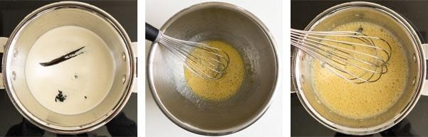 La recette de l'entremets vanille amandes